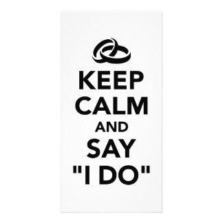 Keep calm and say I do Card