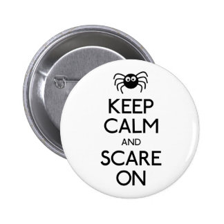 Keep calm and scare on spider buttons