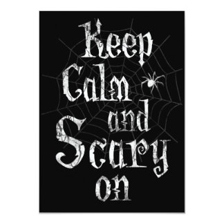 Keep Calm and Scary On, Spider Halloween Party Card