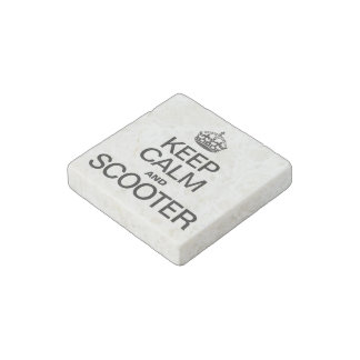 KEEP CALM AND SCOOTER STONE MAGNET