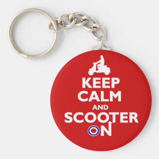 Keep Calm and Scooter On Keychain