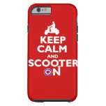 Keep calm and scooter on Red White iPhone 6 Case