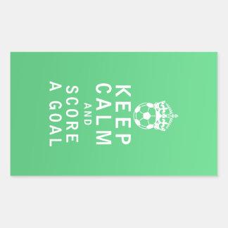 Keep Calm and Score a Goal Rectangular Stickers