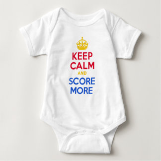 KEEP CALM and SCORE MORE Baby Bodysuit