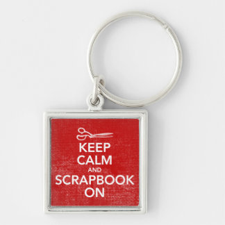 Keep Calm and Scrapbook On Keychain 2, Inv. Red