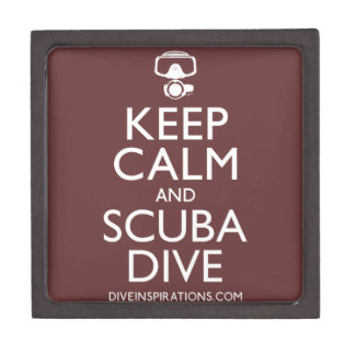Keep Calm and Scuba Dive Jewelry Box