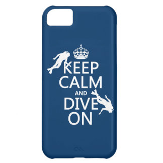 Keep Calm and (scuba) Dive On (in any color) Cover For iPhone 5C