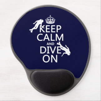 Keep Calm and (scuba) Dive On (in any color) Gel Mouse Pad