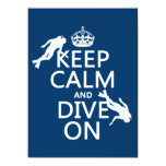 Keep Calm and (scuba) Dive On (in any color) Personalized Announcements