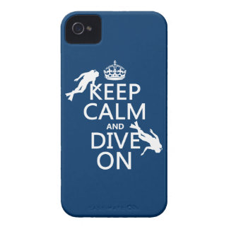 Keep Calm and (scuba) Dive On (in any color) iPhone 4 Case