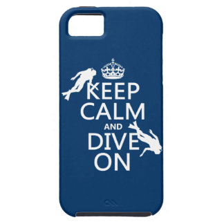 Keep Calm and (scuba) Dive On (in any color) iPhone SE/5/5s Case