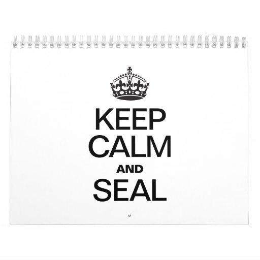 KEEP CALM AND SEAL WALL CALENDARS
