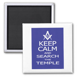 KEEP CALM AND SEARCH TEMPLE MAGNET