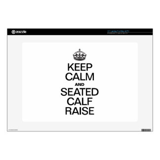 "KEEP CALM AND SEATED CALF RAISE 15"" LAPTOP DECAL"