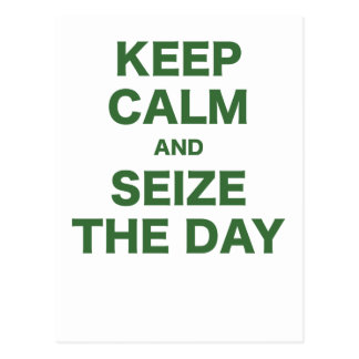 Keep Calm and Seize the Day Postcard