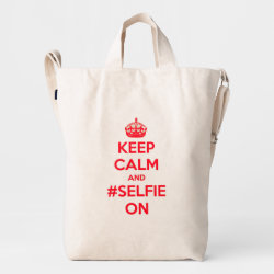 BAGGU Duck Bag with Keep Calm and #selfie On design