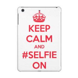 Case Savvy Glossy Finish iPad Mini Retina Case with Keep Calm and #selfie On design