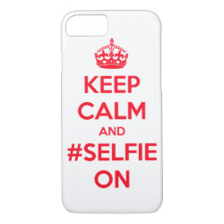 Case-Mate Barely There iPhone 7 Case with Keep Calm and #selfie On design