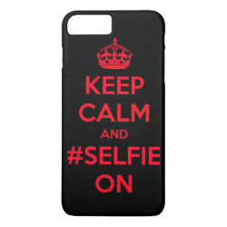 Case-Mate Tough iPhone 7 Plus Case with Keep Calm and #selfie On design