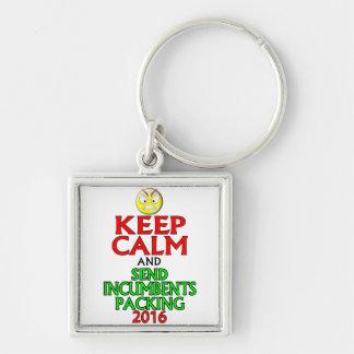 Keep Calm And Send Incumbents Packing 2016 Keychain