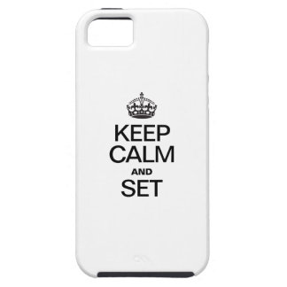KEEP CALM AND SET iPhone SE/5/5s CASE