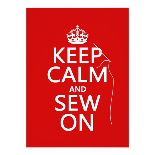 Keep Calm and Sew On (all colors) Card