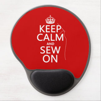 Keep Calm and Sew On (all colors) Gel Mouse Pad