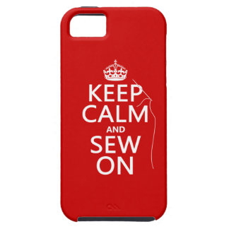 Keep Calm and Sew On (all colors) iPhone SE/5/5s Case