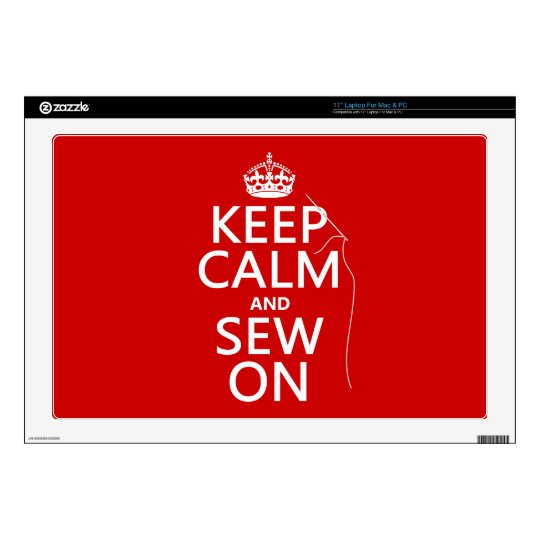 Keep Calm and Sew On (all colors) Laptop Decals