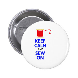 KEEP CALM AND SEW ON PINBACK BUTTONS