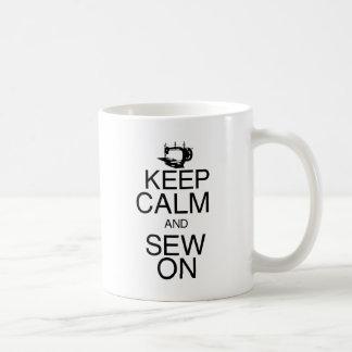 Keep Calm and Sew On Coffee Mug