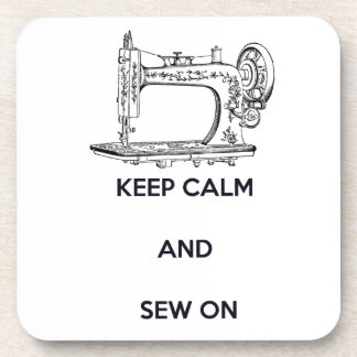 Keep Calm and Sew On Drink Coasters