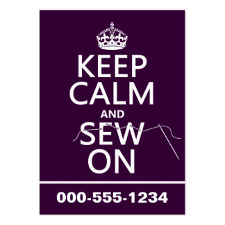 Keep Calm and Sew On (in all colors) Business Card
