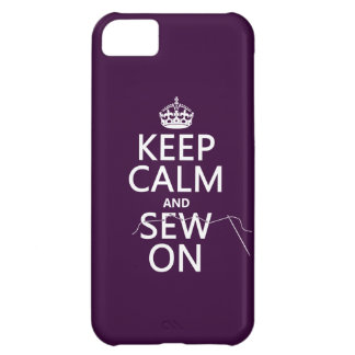 Keep Calm and Sew On (in all colors) iPhone 5C Case
