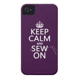 Keep Calm and Sew On (in all colors) Case-Mate iPhone 4 Case