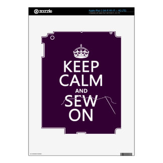 Keep Calm and Sew On (in all colors) iPad 3 Decal