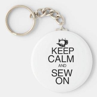 Keep Calm and Sew On Keychain