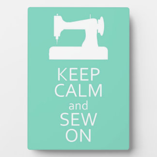 Keep Calm and Sew On Photo Plaques