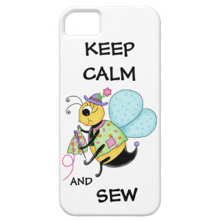 Keep Calm and Sew Sewing Bee iPhone SE/5/5s Case