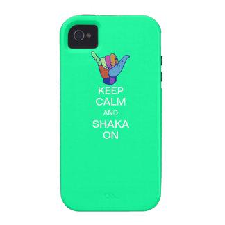 Keep Calm and Shaka On Vibe iPhone 4 Cover