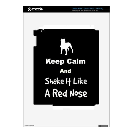 Keep Calm and Shake It Like a Red Nose iPad 3 Decals