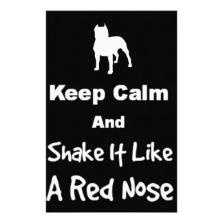 Keep Calm and Shake It Like a Red Nose Stationery