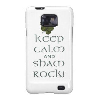 Keep Calm and Sham Rock! Galaxy S2 Case