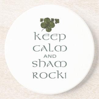 Keep Calm and Sham Rock! Drink Coaster