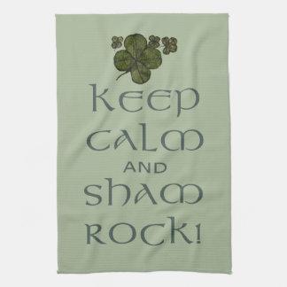 Keep Calm and Sham Rock! Kitchen Towels
