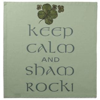 Keep Calm and Sham Rock! Cloth Napkins