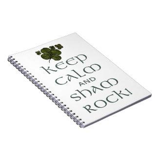 Keep Calm and Sham Rock! Spiral Notebook