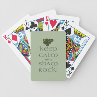 Keep Calm and Sham Rock! Poker Deck