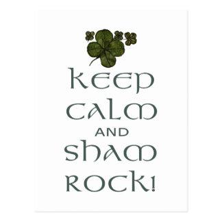 Keep Calm and Sham Rock! Postcards
