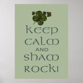 Keep Calm and Sham Rock! Print